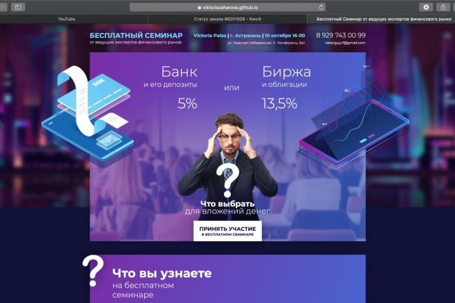 Вёрстка сайтов по доступной цене 84 - kwork.ru