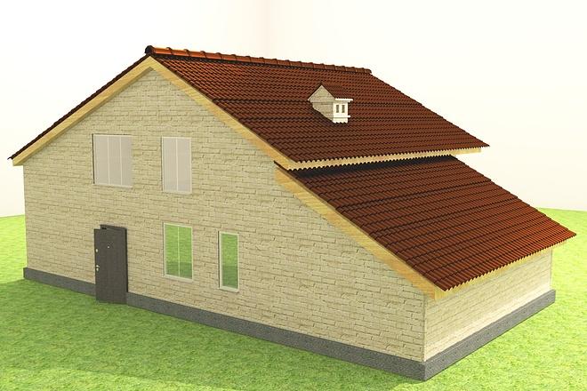 Экстерьеры. 3д модели домов 3 - kwork.ru