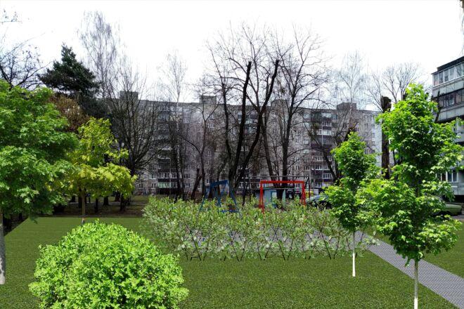 Визуализация благоустройства и озеленения территории, фото-эскиз 10 - kwork.ru