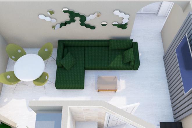 Создам планировку дома, квартиры с мебелью 30 - kwork.ru