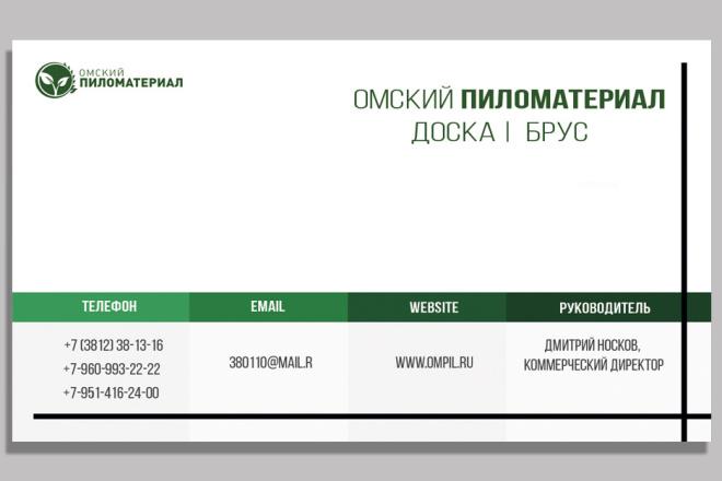 Дизайн двусторонней визитки 1 - kwork.ru
