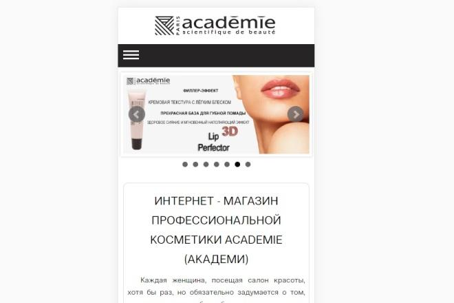 Доработаю мобильную версию сайта 7 - kwork.ru