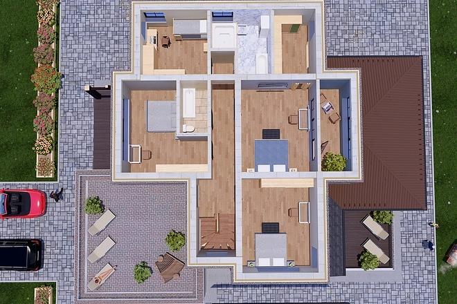 Фотореалистичная 3D визуализация экстерьера Вашего дома 189 - kwork.ru