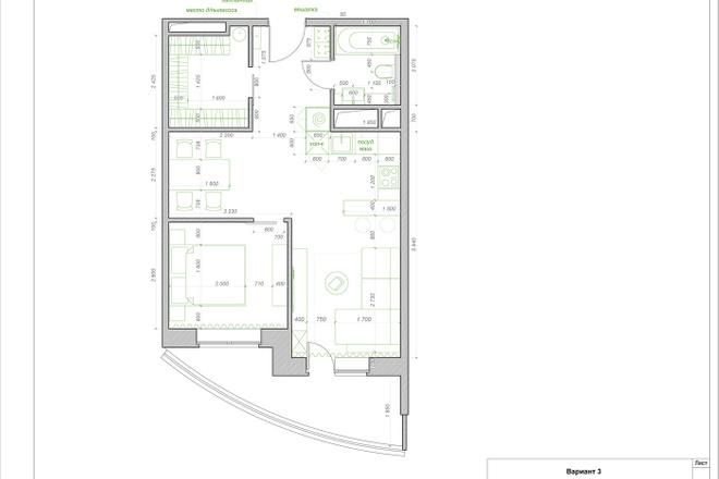 Планировочное решение квартиры, дома. Перепланировка. Планировка 18 - kwork.ru