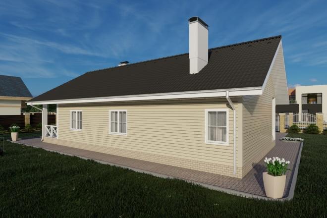 Фотореалистичная 3D визуализация экстерьера Вашего дома 85 - kwork.ru
