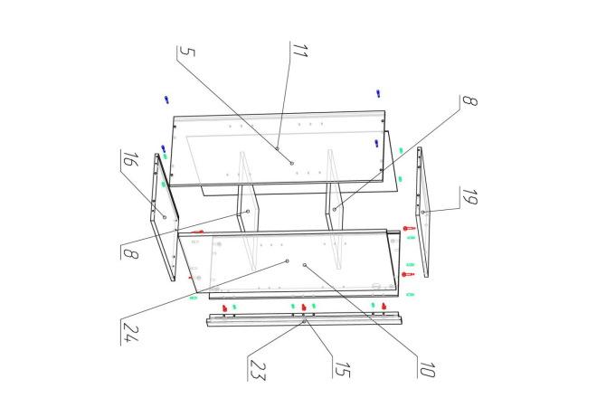 Проект корпусной мебели, кухни. Визуализация мебели 27 - kwork.ru