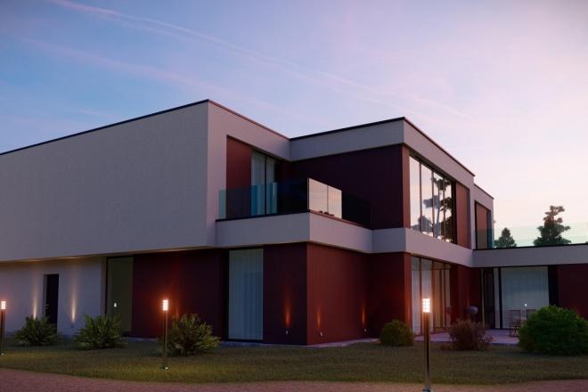 3д моделирование и визуализация экстерьеров домов 17 - kwork.ru