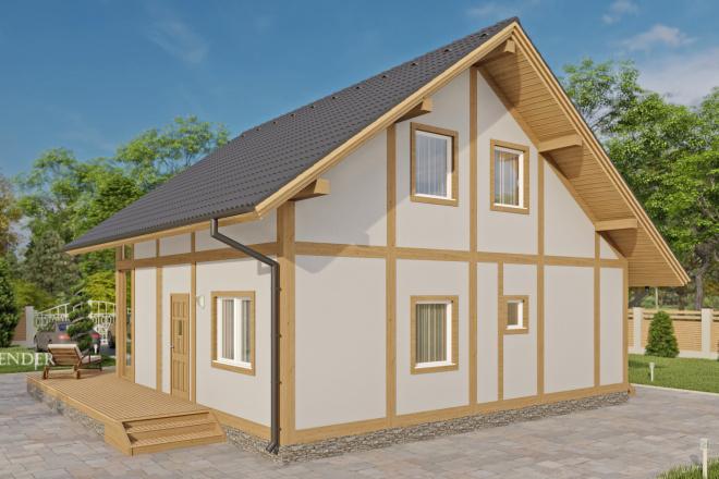Фотореалистичная 3D визуализация экстерьера Вашего дома 12 - kwork.ru