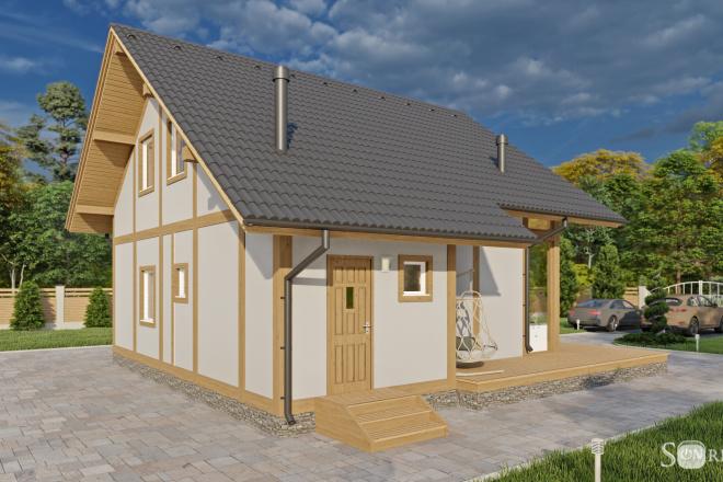 Фотореалистичная 3D визуализация экстерьера Вашего дома 13 - kwork.ru