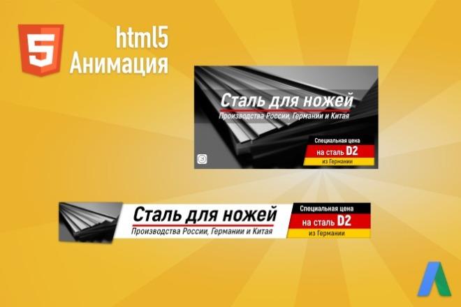 Анимационные HTML5 баннеры для Google Ads 2 - kwork.ru