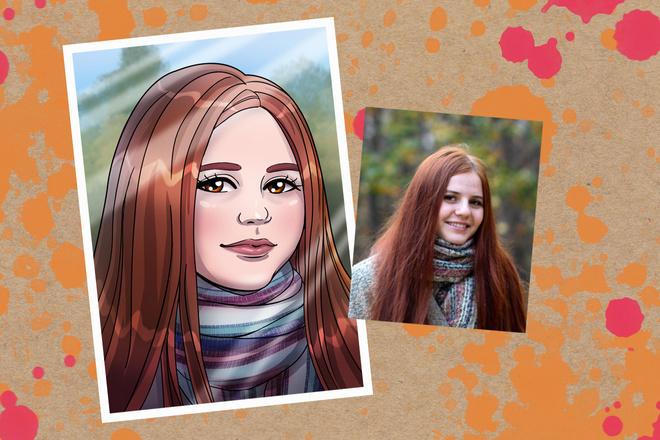 Портрет в стиле аниме или манги 1 - kwork.ru