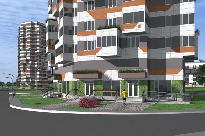 Визуализация экстерьера, фасадов здания 15 - kwork.ru