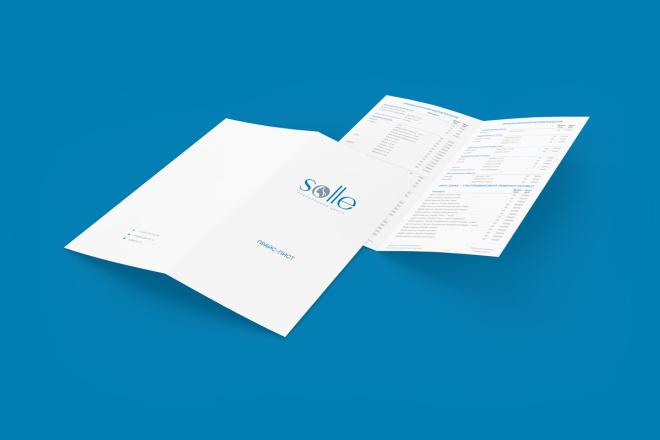 Дизайн двухсторонней листовки с исходниками 12 - kwork.ru
