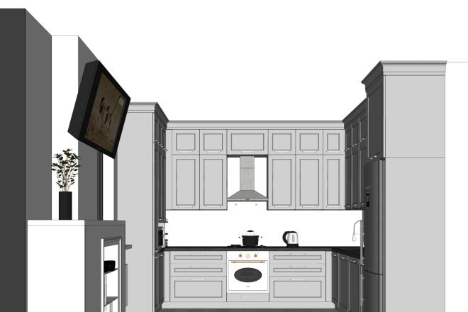 Дизайн-проект кухни. 3 варианта 1 - kwork.ru