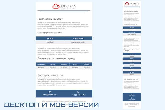 Дизайн и верстка адаптивного html письма для e-mail рассылки 11 - kwork.ru