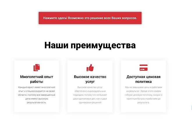Лендинг для любых целей на Wordpress 70 - kwork.ru