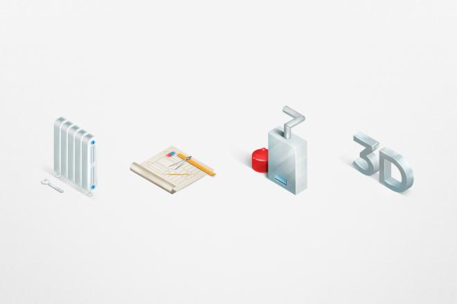 Нарисую эксклюзивную растровую иконку для вашего сайта 2 - kwork.ru