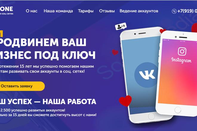Качественная копия лендинга с установкой панели редактора 28 - kwork.ru