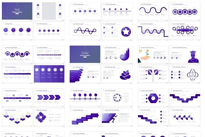 Набор премиальной инфографики для презентаций PowerPoint 2 - kwork.ru