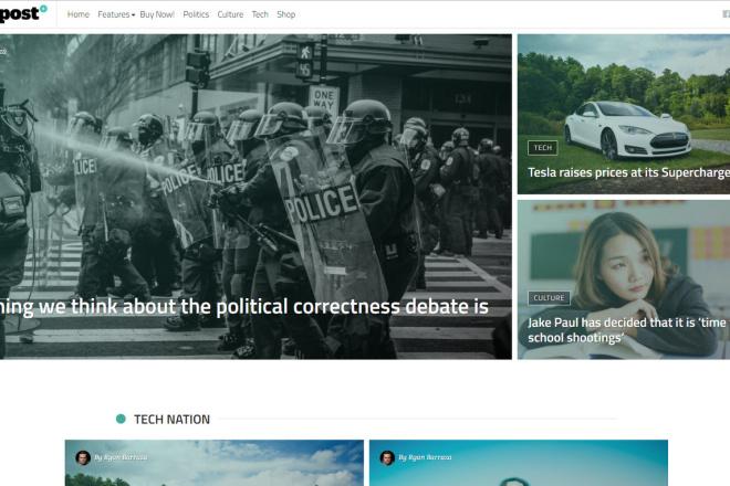 StuffPost - Премиум шаблон ВордПресс новостного портала, газеты, СМИ 1 - kwork.ru