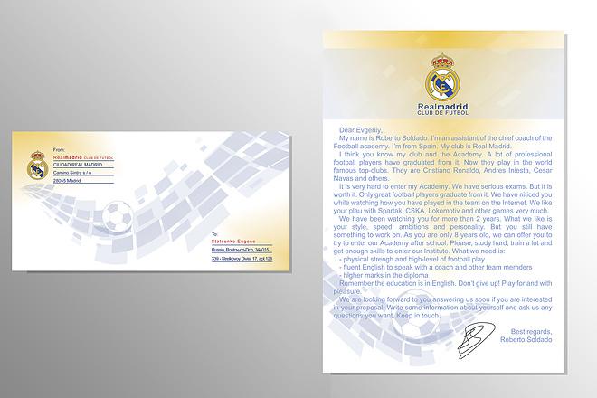 Разработаю дизайн комплекта конверт и бланк письма 1 - kwork.ru