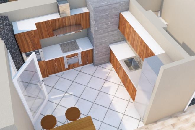 Создам планировку дома, квартиры с мебелью 15 - kwork.ru
