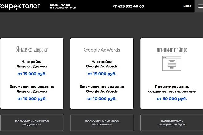 Скопирую Landing Page, Одностраничный сайт 52 - kwork.ru