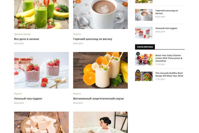 Создам красивый адаптивный блог, новостной сайт 16 - kwork.ru