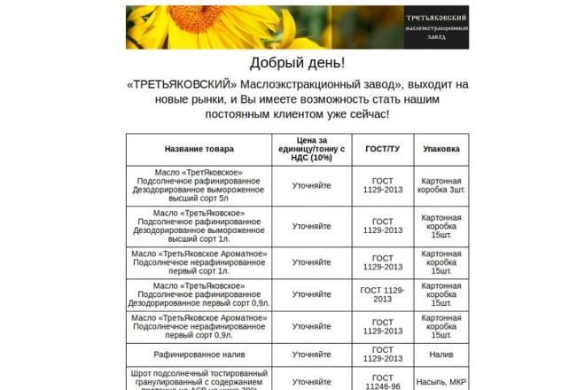 Адаптивная html верстка email-письма 9 - kwork.ru