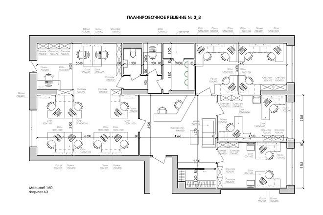 Планировочные решения для коммерческих помещений 17 - kwork.ru