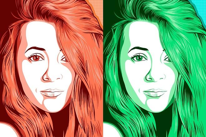 Нарисую поп-арт портрет по фото 5 - kwork.ru