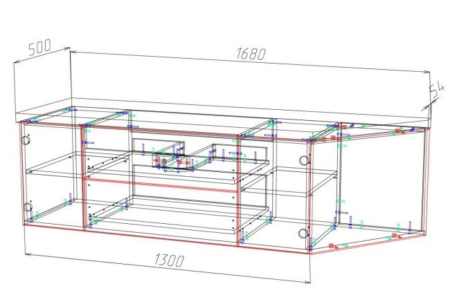 Конструкторская документация для изготовления мебели 33 - kwork.ru