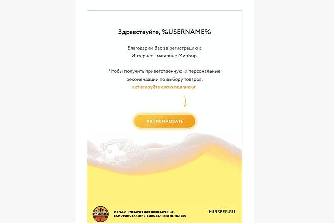 Html письмо шаблон для E-mail емайл рассылки. Дизайн и верстка 16 - kwork.ru