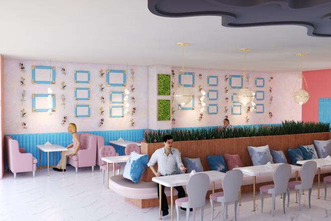 Интерьеры ресторанов, кафе 18 - kwork.ru