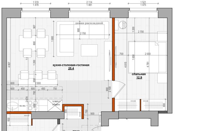 Оцифровка чертежей, планов в DWG, любые чертежи планы,детали 16 - kwork.ru
