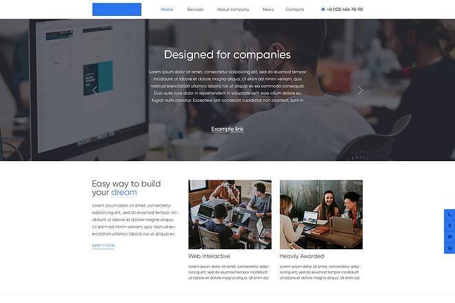 Дизайн страницы сайта 84 - kwork.ru
