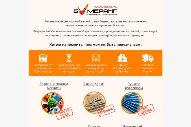 Создание и вёрстка HTML письма для рассылки 3 - kwork.ru