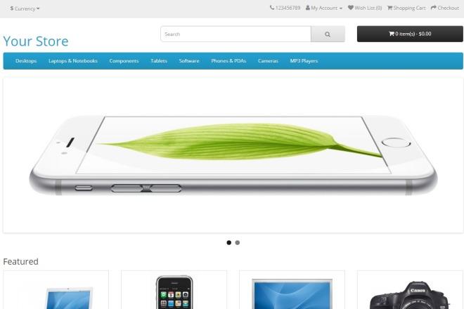 Создам интернет-магазин на движке Opencart, Ocstore 9 - kwork.ru