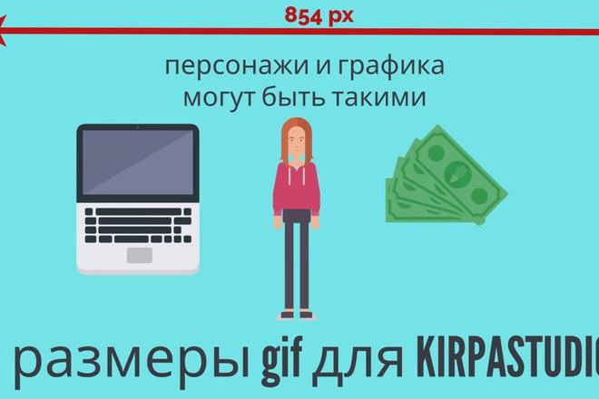 Сделаю гиф анимацию с инфографикой и персонажами 6 - kwork.ru