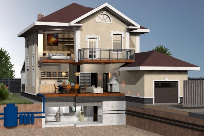 Создам планировку дома, квартиры с мебелью 59 - kwork.ru