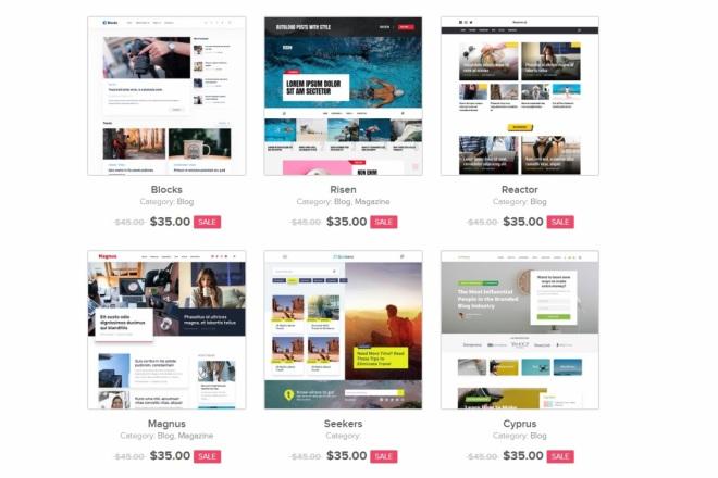 ПАК 1000 шаблонов и дополнений для WordPress 31 - kwork.ru