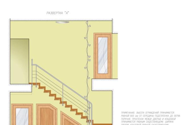 Планировка или пакет рабочих чертежей для проекта интерьера 14 - kwork.ru
