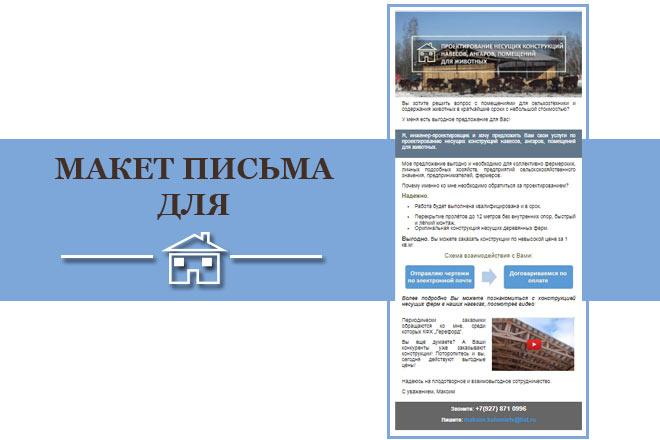 Создам html письмо для e-mail рассылки -адаптация + дизайн 17 - kwork.ru