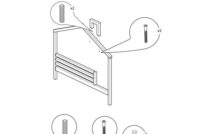 Схема, инструкция сборки мебели 13 - kwork.ru