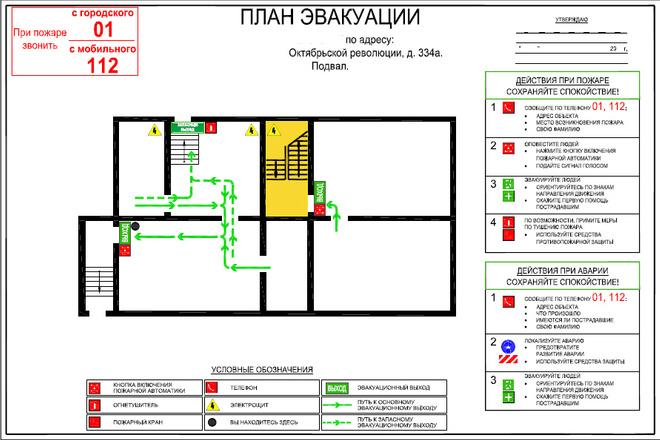 План эвакуации 1 - kwork.ru