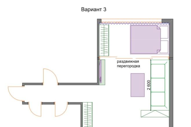 Планировочные решения. Планировка с мебелью и перепланировка 31 - kwork.ru