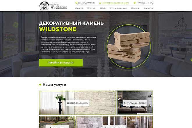 Дизайн страницы сайта 77 - kwork.ru