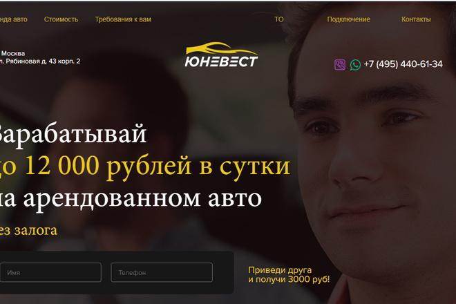 Качественная копия лендинга с установкой панели редактора 33 - kwork.ru