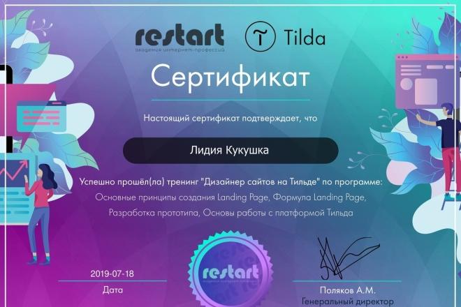 Дизайн сайтов на Тильде 1 - kwork.ru