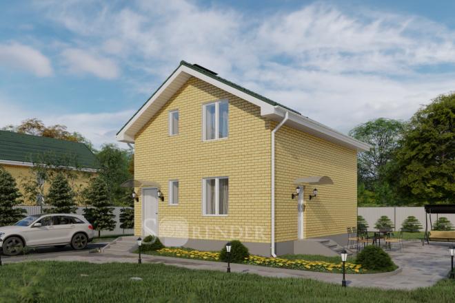 Фотореалистичная 3D визуализация экстерьера Вашего дома 24 - kwork.ru